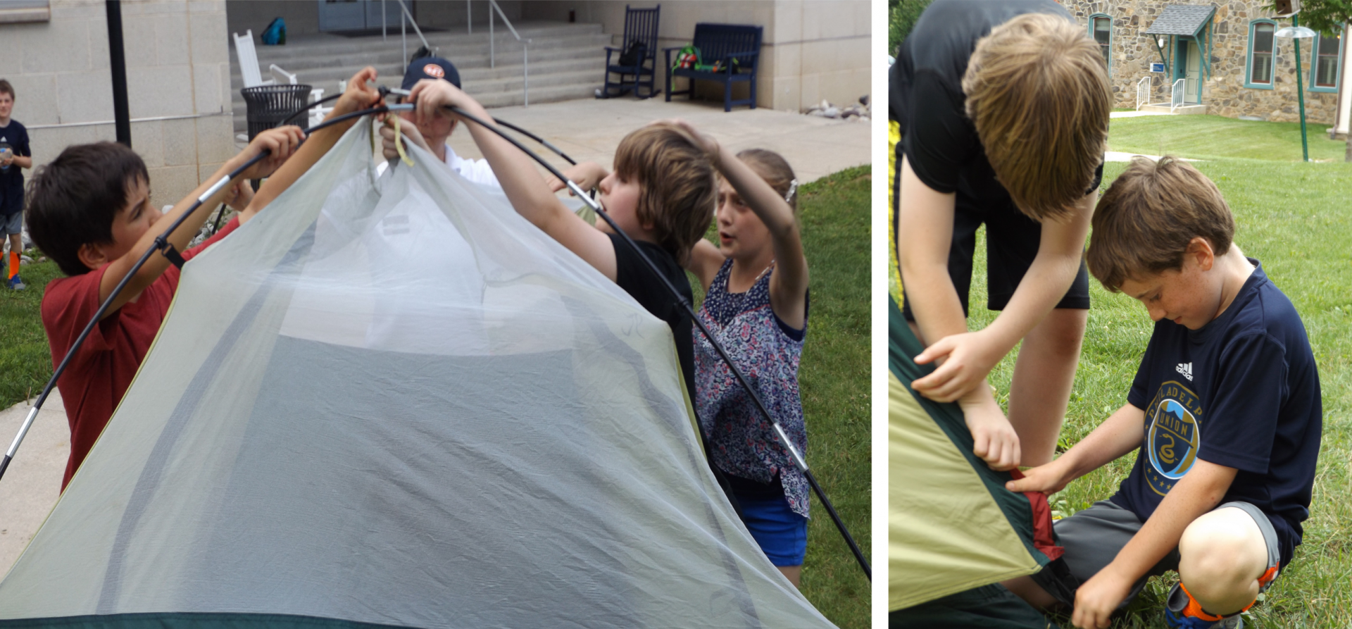 diy building a tent episcopal academy